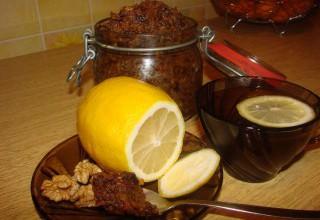 Лекарство мед курага чернослив и орехи