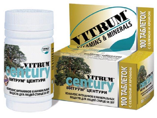 Витамины витрум виды