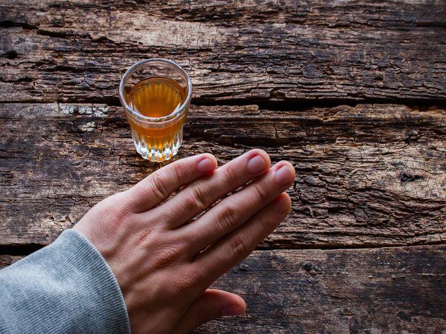 рюмка спиртного