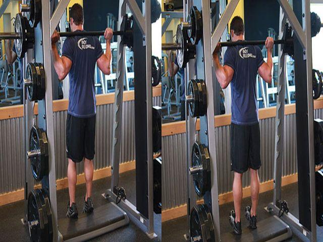 прокачивание икроножных мышц с помощью штанги