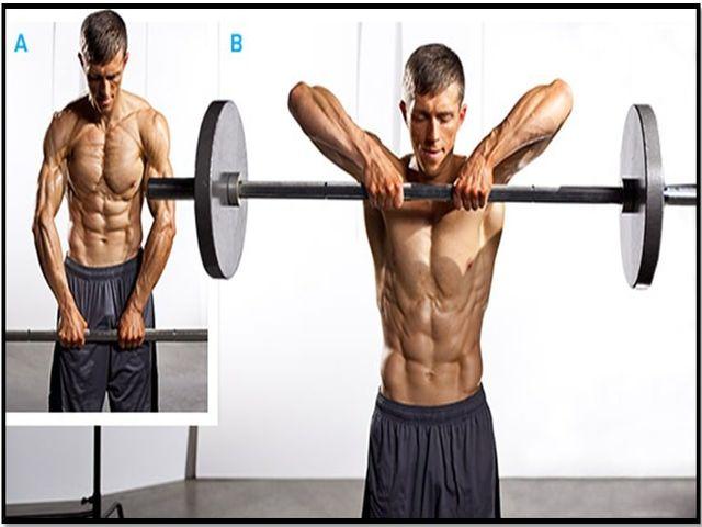 Как быстро накачать трапециевидную мышцу штангой