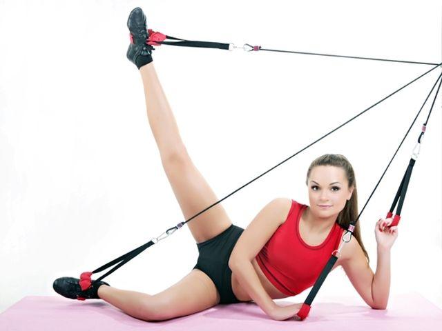 Как развить ноги с помощью эспандера