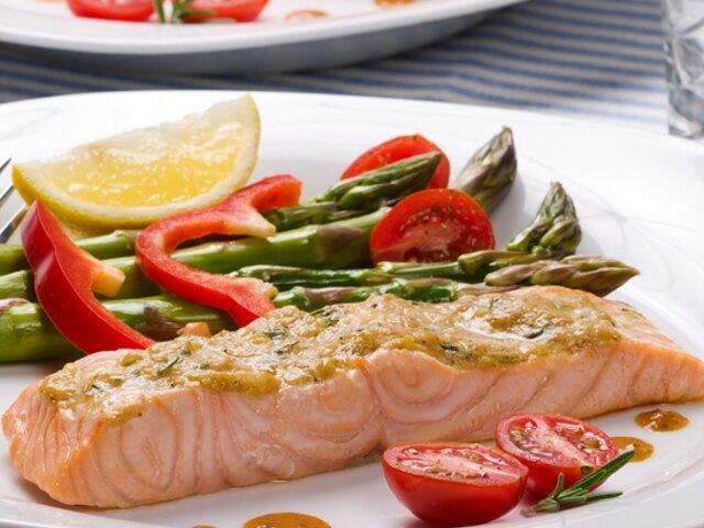 Рыбное блюдо с овощами