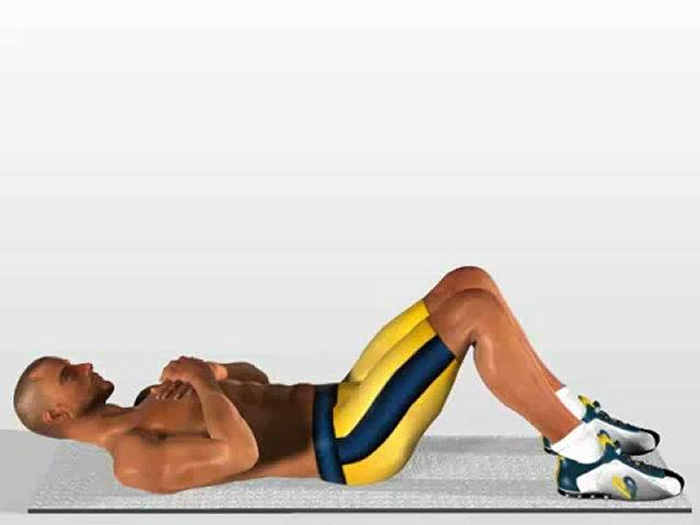 Упражнение на мышцы живота