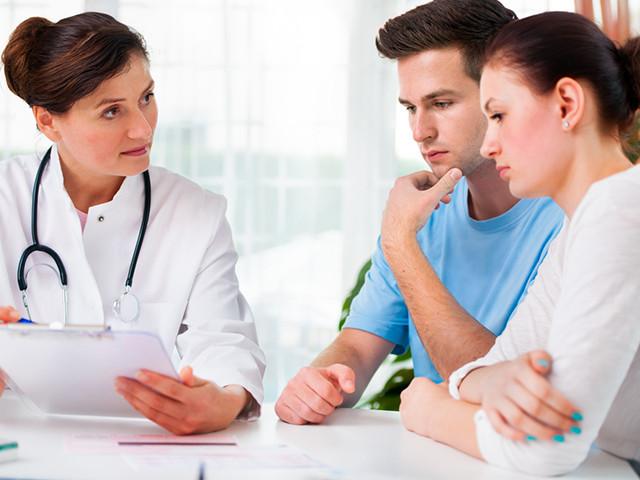 Муж и жена у доктора